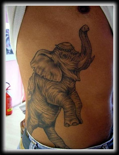 elephant tattoo grey grey ink elephant tattoo design on ribs tattoos book