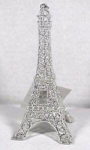 cut crystal eiffel tower xmas ornament silver glitter eiffel tower tree ornament decor new ebay