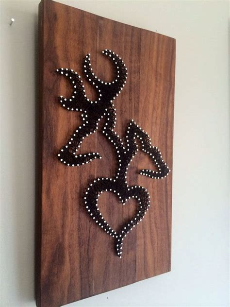 deer patterns and wood wall design on pinterest rustic hunting string art home decor deer browning and