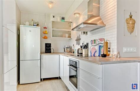 Kitchen Design For Small Flat Tiny Studio Apartment With Swedish Charm