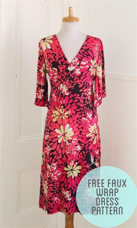 free pattern wrap dress diy free printable wrap dress pattern craftacular