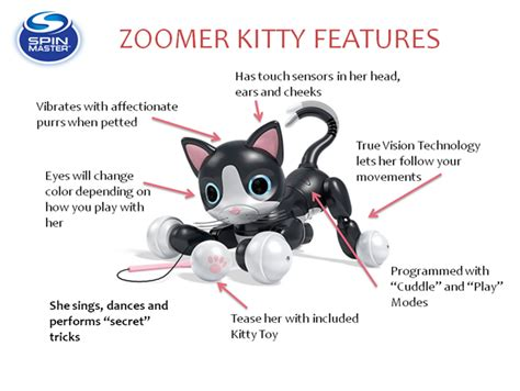zoomer kitty coloring page spin master toys new adorable zoomer kitty robot toy