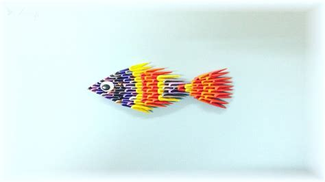 How To Make A 3d Origami Fish - how to make 3d origami fish