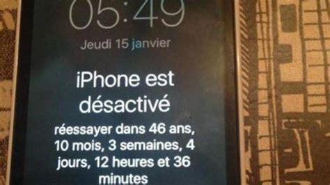 l iphone est désactivé un iphone bloqu 233 pendant quot 46 ans 10 mois 3 semaines 4 jours quot