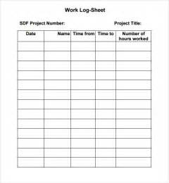 Work Log Excel Template by 7 Work Log Templates Word Excel Pdf Formats