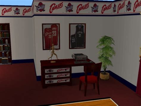 cleveland cavaliers bed set mod the sims cleveland cavaliers bedroom for osubucksgurl04