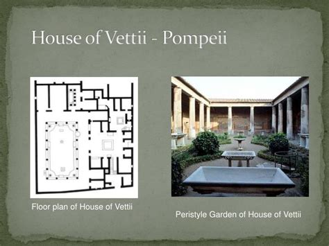 pompeii house plan plan of the house of the vettii www imgkid the
