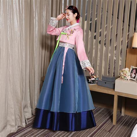 Lace Hanbok Skirt korean traditional dress 2017 new arrival hanbok korean