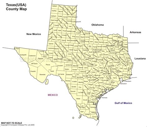 texas country map all of texas counties map
