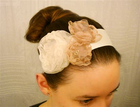 Handmade Headband Ideas - how to make an organza flower ribbon headband