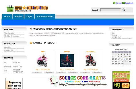 download source code gratis bisa di edit aplikasi e download gratis source code php aplikasi penjualan motor