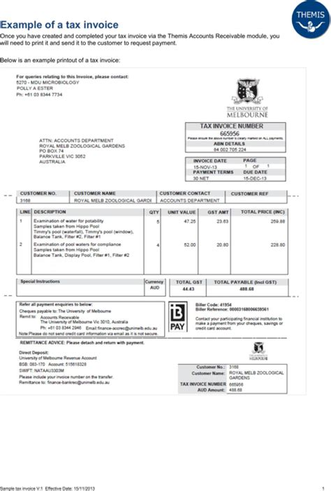 download tax invoice template for free formtemplate