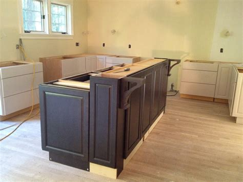 how to install kitchen island cabinets building a kitchen island with cabinets