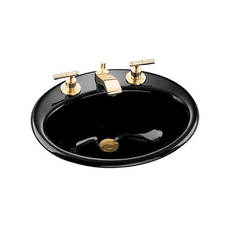 kohler farmington bathroom sink kohler farmington drop in cast iron bathroom sink in black