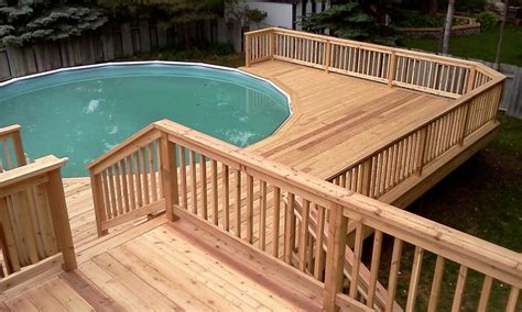 multi level  ground pool deck design plan bath