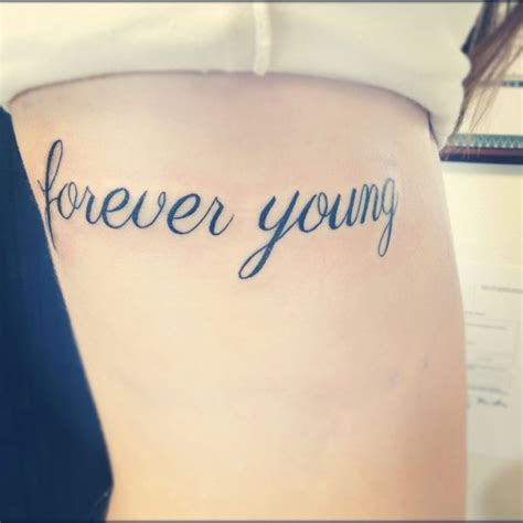forever young tattoo designs forever rib quotes tattoos