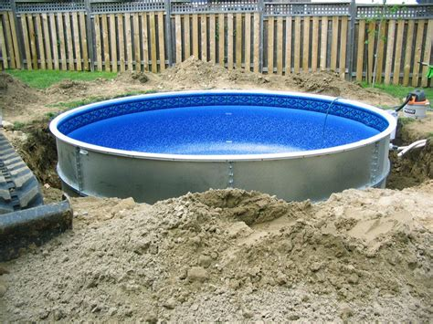 inground pool kits above ground pools swimming pools ideas and benefits of a semi inground pool backyard
