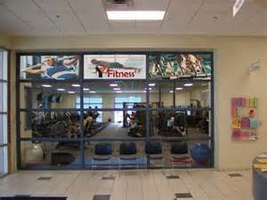 Door Wall Murals fitness center window graphics