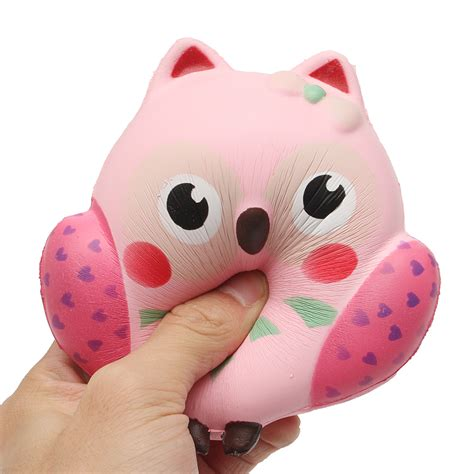 Squishy Owl 1 squishy owl rebound squeeze rising soft animal pet collection gift decor