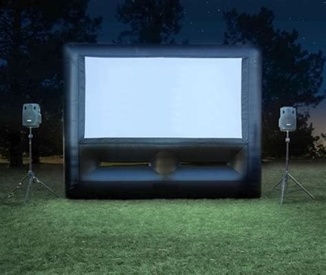 inflatable backyard movie screen big screen movies airbounce amusements