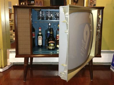 Old Cabinet Tv Vintage Tv Hidden Cocktail Bar Liquor Cabinet Liquor
