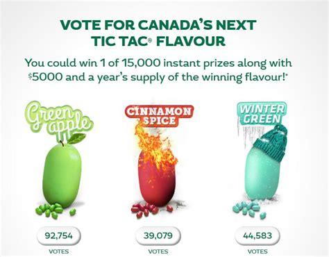 Instant Win Canada - tic tac canada instant win contest 10 000 fpc s