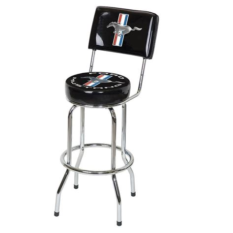 bar stool with back rest ford mustang bar stool w back rest