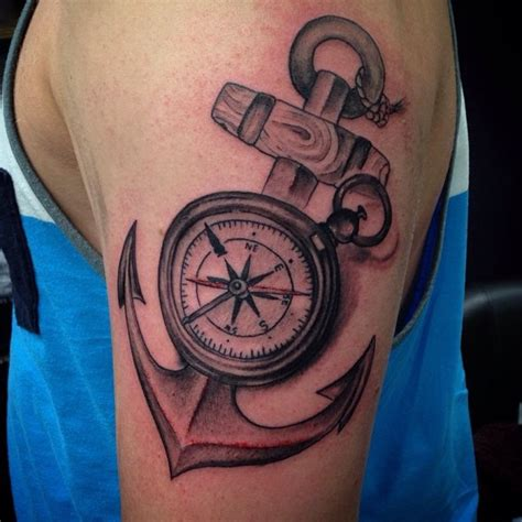 cool compass tattoos 48 best anchor compass tattoos