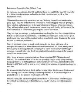 retirement speech template sle retirement speech 8 documents in pdf