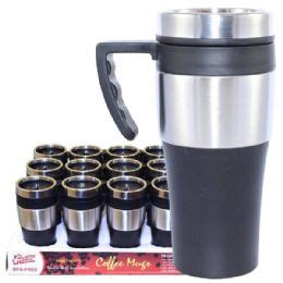 24 units of coffee mug stainless steel with handle at 24 units of coffee mug insulated with handle at