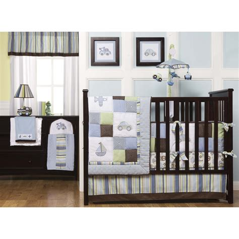 nursery bedding for boys cool and stylist kids line 6 piece crib bedding set on