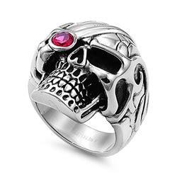 Skull Ring Titanium Sr 067 stainless steel ring skull sr 878 n