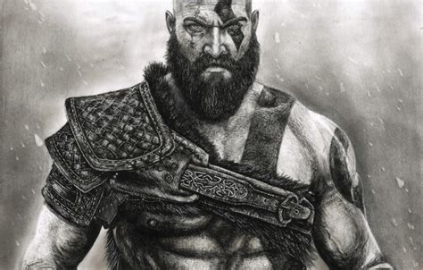 god of war knives wallpaper snow powerful leather armor god of war
