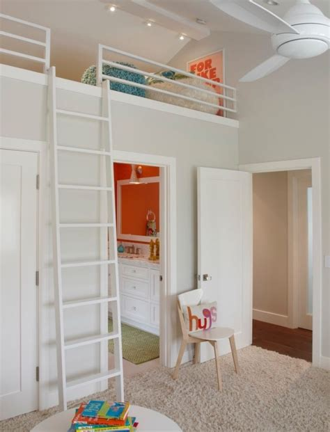 bedroom with loft kids room w loft bed over closet main street pinterest