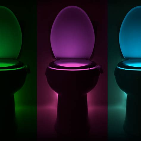 toilet bowl light illumibowl motion activated toilet night light bathroom