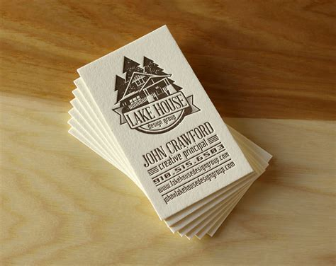 creative lake house names a handful of new letterpress business cards the parklife blog