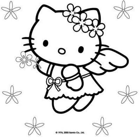 hello kitty angel coloring pages hello kitty christmas coloring pages tip junkie