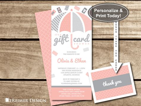 Gift Card Baby Shower - gift card shower invitation gift card baby shower baby