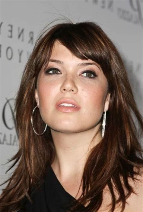 what kind of bangs look good on over 50 women 25 long hairstyles with bangs are the best for round faces