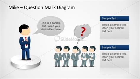 question powerpoint template 6479 01 mike question marks template 6 slidemodel