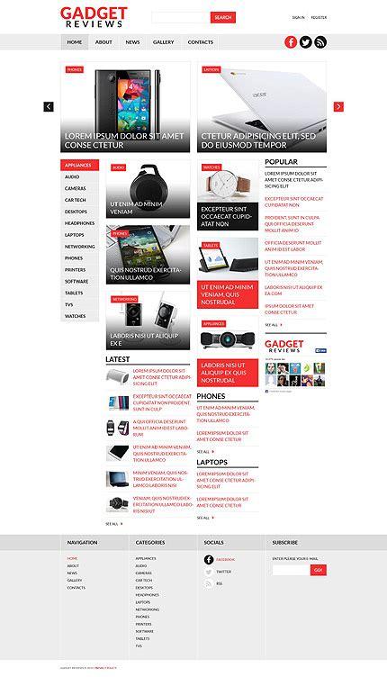 artikel layout joomla gadget reviews joomla template 53133 sitevorlagen de