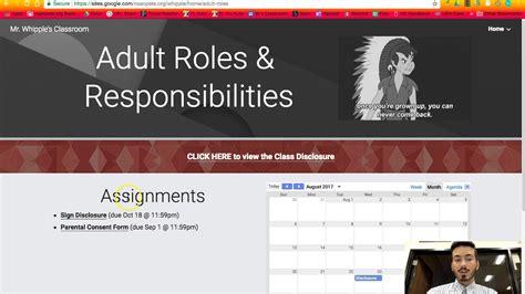 website tutorial youtube mr whipple s class website tutorial youtube