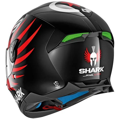 Lorenzo Black shark skwal 2 lorenzo black white helmet 183 motocard