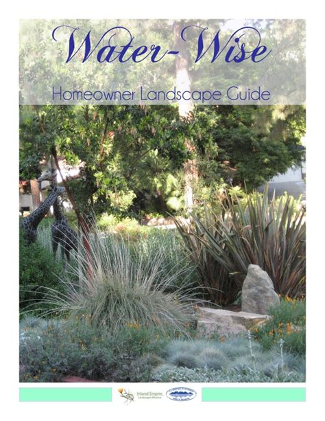 Landscape Architect Inland Empire Water Wise Homeowner Landscape Guide Inland Empire