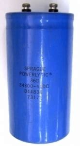 how you spell capacitor nos sprague powerlytic 34800uf 40vdc can capacitor