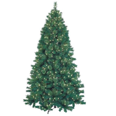 7 5 feet pre lit artificial christmas tree with metal base