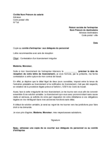 Lettre De Notification De Stage Modele Lettre De Licenciement Document