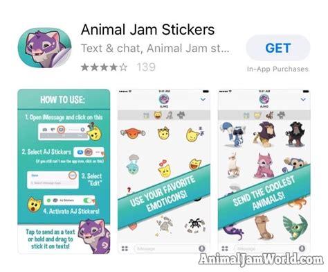 animal jam app animal jam stickers app how to for ios