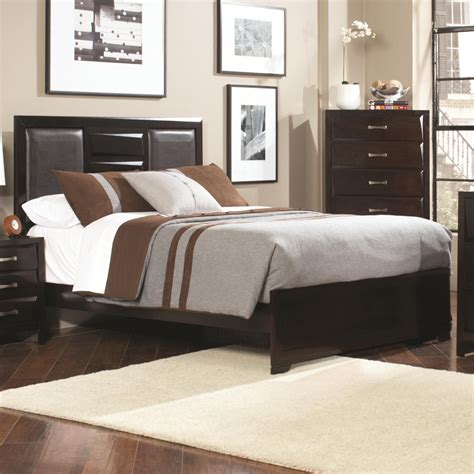 queen leather bed coaster 203551q brown queen size leather bed steal a sofa furniture outlet los