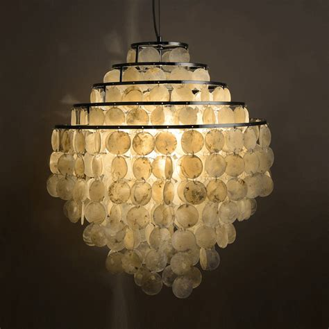 Shell Light Shades Pendant Pastoral Design Shell Made Lshade Home Decorative Chandelier New Cloud Shape